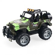 Electric Radio RC Truck with Full-Time 4-Wheel Drive System Remote Control RTR Racing Car Kids Republic 1/18 Scale Off Road Truck with 4 Shock Absorbers, Idea Gift for Ages 8+,Kids Boys Toys (D)