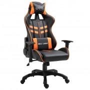 vidaXL Геймърски стол, оранжево, PU