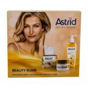 Astrid Beauty Elixir подаръчен комплект хидратиращ дневен крем за лице против бръчки 50 ml + масло с молекули коприна за почистване на лицето 145 ml W