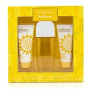 Sunflowers Coffret: Eau De Toilette Spray 100ml/3.3oz + Body Lotion 100ml/3.3oz + Hydrating Cream Cleanser 100ml/3.3oz 3pcs Sunflowers Set: Apă de Toaletă Spray 100ml/3.3oz + Loțiune de Corp 100ml/3.3oz + Gel Hidratant Cremos 100ml/3.3oz