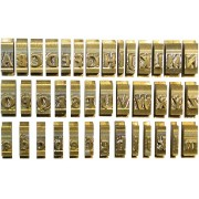 Set litere cu font latin standard, 5,5 mm, 52 litere/set, OPUS