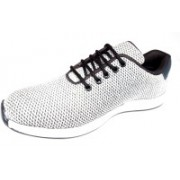 Vive Style Shiv001 Walking Shoes For Men(White)