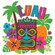 "Amscan Hawaiian Summer Luau Party Tropical Paradise Cutout Wall Decoration, 15"" x 14 1/4"", Multicolor"