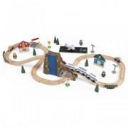 Trenulet din Lemn cu Set de Accesorii Happy Kid - Euro Express
