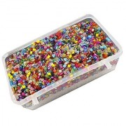 eshoppee glass seed cut beads 100 gm (approx 10000 beads) for jewellery art and craft making diy kit