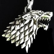HBO Game of Thrones House Stark Winter Is Coming 3D silver Metal Key chain ring