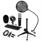 Auna CM003, микрофонен комплект V2 кондензорен микрофон, USB конвентор микрофонна стойка POP защита (60001991-V2KO)