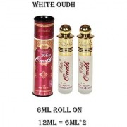 Al-Nuaim 12ML White Oudh Attar 100 Percent Original And Alcohol Free Concentrated Perfume Oil Scent For Men Women