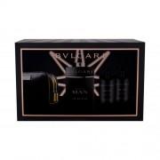 Bvlgari Man In Black set cadou EDP 100 ml + Balsam dupa barbierit 75 ml + Gel de dus 75 ml + Borseta cosmetice pentru bărbați