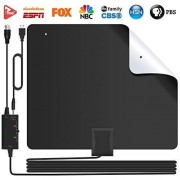 Lesoom [2019 Version] 85+ Miles HD TV Antenna V0 Fireproof PC Material Indoor Digital HDTV Antennas with Smart Amplifier,Support 1080P 4K VHF UHF for Local Channels Broadcast Fire TV Stick All Old TV