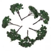 Nuolux 25Pcs Model Flower Trees Landscape 1:100 6.5Cm Scenery Wire Tree