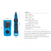 BSIDE FWT11 RJ11 / RJ45 Téléphone Fil Tracker Ethernet LAN Réseau Testeur de Câble Détecteur Ligne Finder