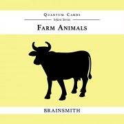 Brainsmith Quantum Cards – Farm Animals - Black and White Cards for Newborns – Newborn Baby - Vision Stimulation - Baby Brain Development - Infant Flashcards – Early Learning – Infant Series - Visual Development – High Contrast Image Cards - Baby Shower G