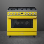 Smeg CPF9GMYW Cocina Portofino Amarilla con Encimera a Gas y Horno Eléctrico A+ ¡Envío Gratis!