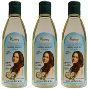 KAZIMA Jasmine Herbal Hair Oil (100ml Pack of 3) Ideal For Anti Hair Loss Lice Prevention Dandruff Treatment & Promote Hair Growth
