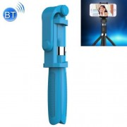 2 in 1 Foldable Bluetooth Shutter Remote Selfie Stick Tripod for iPhone and Android Phones(Blue)