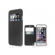 """Husa piele artificiala Mercurycase Wow Bumper S-View cover pentru Apple iPhone 6 Plus/6S Plus (5,5""""), negru"""