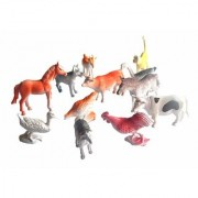 ANABGIFarm Land Animals Small Figures Set for Kids/Young Ones Pack of 12 (Multi Colour)