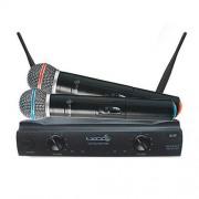 KIT 02 MICROFONES SEM FIO C/ RECEPTOR UHF XLR