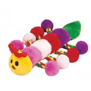 PETLOU Colossal Caterpillar 22 Inch Plush Chew Toy For Dogs