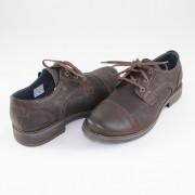 Pantofi piele naturala barbati - maro, Krisbut - 4564-2-1-Brown