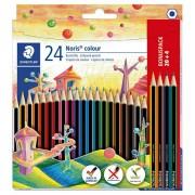 Boje drvene 24boje Noris colour Staedtler 185 C24P blister 000041165