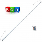 Алуминиева LED лента - дискретно осветление [in.tec]® 1 x 100см, RGB - 60 много ясна SMD