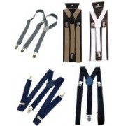Nancydiva Y- Back Suspenders for Men(Black, White, Grey, Brown, Blue)