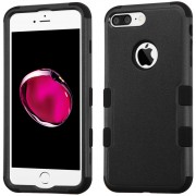 Funda Case Para IPhone 7 Plus / IPhone 8 Plus Protector Dobre De Uso Rudo-Negro