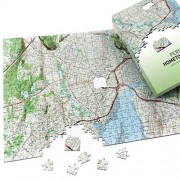 Personalized ' My Hometown' Map Jigsaw Puzzle (USGS Mapping)