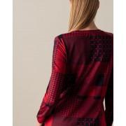 Helena Vera Shirt mit Patchwork Druck kirsche female 48