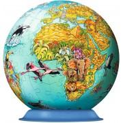 Puzzle glob Ravensburger - Globul Lumii, 108 piese (12212)