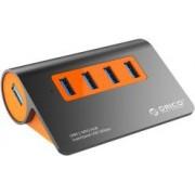 Orico 4-portni USB 3.1 Hub, dark gray+orange (ORICO M3H4-G2)