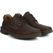 Clarks Untilary Way Dark Brown Nub Outdoors For Men(Brown)