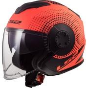 LS2 OF570 Verso Spin Jet Helmet Black Orange L