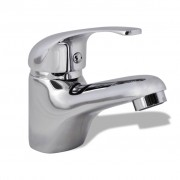 vidaXL Basin Mixer Tap Chrome