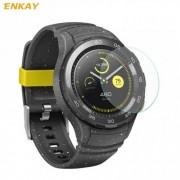 Okosóra előlap védő karcálló edzett üveg - ENKAY - edzett üveg, 2.15D lekerekített szél, 0.2mm, 9H, 2 db A képernyő sík részét védi - Huawei Watch 2 / Huawei Watch W2 - GYÁRI