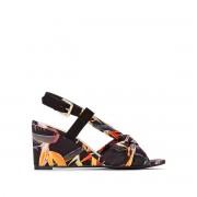 La Redoute Collections Sandálias de cunha, em tecido estampadopreto multicolor- 37