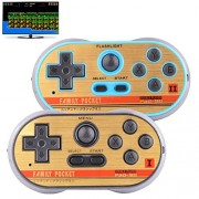 ZHISHAN Retro Games Controller Mini Classic Handheld Game Console Toys for Kids Gamepad Joystick Support Dual Battle Load in 260 Video Games Connect and Play with TV Gaming Station (Black+Blue)