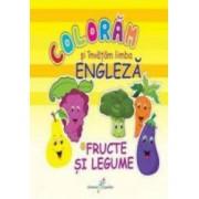 Fructe si legume - Coloram si invatam limba engleza