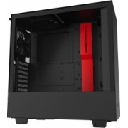 Carcasa NZXT H510i Matte Middle Tower ATX fara sursa Black/Red