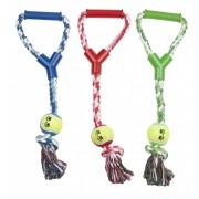 Hundespielzeug Tennisball am Seil