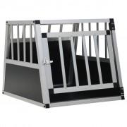 vidaXL Transportadora para cães com porta única 54x69x50 cm
