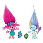 DreamWorks Troll Dolls Trolls Movie 2 Figure pack 4 Poppy - Poppie & Harper