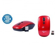 Multybyte Wireless Optical Sleek MouseShape MMPL W-1 For Dell (Red Color) Combo