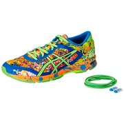 Asics Men's Gel-Noosa Tri 11 Hot Orange, Green Gecko and Electric Blue Running Shoes - 7 UK/India (41.5 EU)(8 US)
