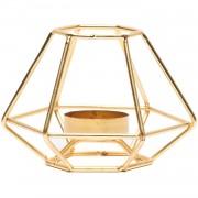 Candleholder Gold Geometrical - Decoratie