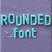 Set 3 Mulaje Alfabet si Cifre Rotunjite, h 2.1 cm