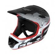 Casca de protectie Force FRC902102 Tiger Downhill pentru trotineta electrica si bicicleta marimea S-M (Negru/Alb)