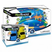 Mindscope Neo Tracks 258 Flexible Assembly Track set + 2 Additional Cars (3 Total Cars)
